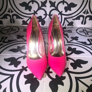 Charlotte Russe Electric Pink Patent Leather Heels